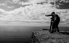 Selfie the Horizon (Jethro_aqualung) Tags: horizon selfie ireland irlanda éire nikon d3100 bn bw monochrome cliffs moher clare sea ocean atlantic way outdoor rock sky oceano mare doolin
