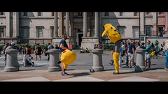 Mid-evolution (Panda1339) Tags: 28mm leicaq summiluxq london ldn people streetphotography pikachu trafalgarsquare pokemon uk cinematic lol