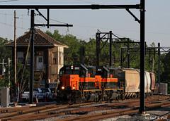 CSS 805 @ Kensington, IL (Michael Polk) Tags: sd382 805 804 kensington illinois chicago south shore bend railroad central michigan freight train brc af6