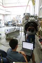 "Javier and John working on mirror alignment • <a style=""font-size:0.8em;"" href=""http://www.flickr.com/photos/27717602@N03/34416461113/"" target=""_blank"">View on Flickr</a>"