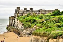 Kingsgate Castle (Geoff Henson) Tags: castle cliff sea beach broadstairs kent uk cliffs sand chalk