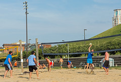 2017-06-12 BBV Men's Doubles (2) (cmfgu) Tags: craigfildespixelscom craigfildesfineartamericacom baltimore beach volleyball bbv md maryland innerharbor rashfield sand sports court net ball outdoor league athlete athletics sweat tan game match people play player doubles twos 2s men