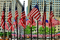 America First...?!? (gerard eder) Tags: world reise travel viajes america northamerica usa unitedstates newyork manhattan midtownmanhattan rockefellercenter flags starsstripes street streetlife streetart städte city ciudades cityscape cityview stadtlandschaft outdoor