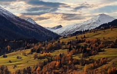 Autum dream... (Alex Switzerland) Tags: mountain outdoor outside switzerland schweiz engadina engadin landscape autumn canon eos 6d snow cold sky cloud morning wild rural
