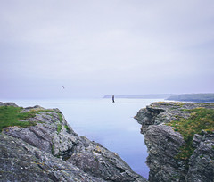 Tightrope walker. (love monkey photography) Tags: tightrope anglesey selfportrait portrait photoshop concept conceptual idea creative 28mm canon wales me