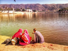 India series (Nick Kenrick..) Tags: pushkar india rajasthan hindu puja blessing