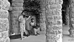 """Street_Artist"" (Parc Guell) (giannipaoloziliani) Tags: music artists parcguell capture nikon streetphotography monochrome spain barcelona blackandwhite biancoenero"