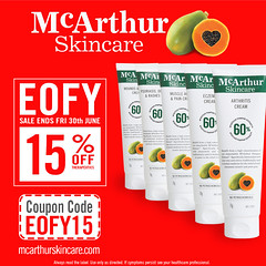 15% OFF McArthur Skincare Therapeutic Cream (mcarthurskincare) Tags: mcarthurskincare pawpaw papaya australianmade petrochemicalfree notoxins noparabens nonasties onsale salenowon eofysale eofybargains eofy