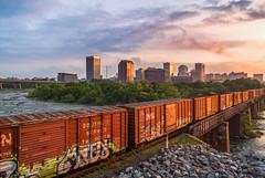 Boxcar Sunrise (Michael Chronister) Tags: rva richmond virginia sunrise railroad train explore exploration