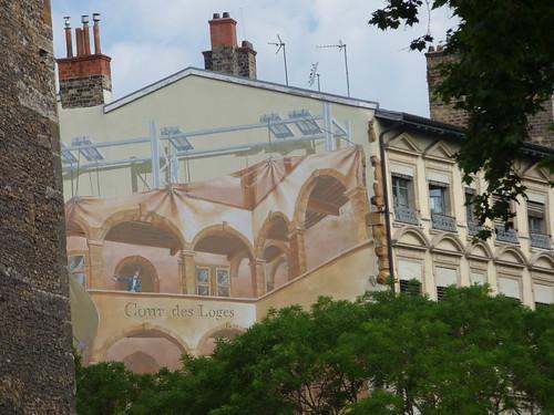 Quai Romain-Rolland, Vieux Lyon - street art - Cour des Loges