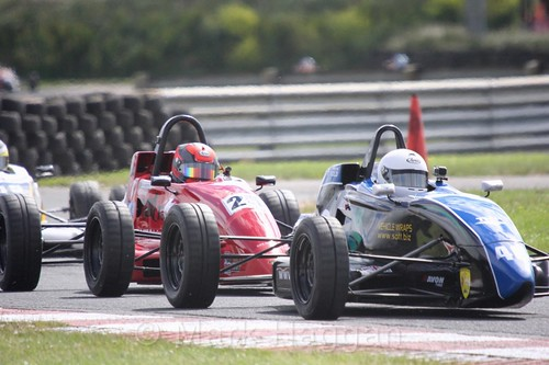 James Scott-Murphy and Neil Maclennan in the Formula Ford FF1600 championship at Kirkistown, June 2017