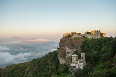 room with a view (_Maganna) Tags: erice italy sicilly travel summer sunset view mountain landscape nikon outside outdoors castle sky clouds
