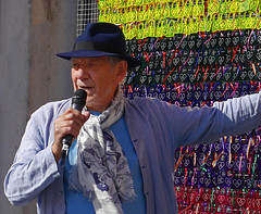Sir Ian McKellen & The Love Locks (cocabeenslinky) Tags: london 50th gay rights uk anniversary south city capital england united kingdom photos panasonic lumix dmcg6 ©cocabeenslinky june 25th 2017 the royal greenwich first pride event 25 perspex love locks engraved with 50 and a heart by ben oakley rainbow colours mirror ball gallery lbgt campaigner actor gandalf lord of rings xmen tv theatre local grapes pub