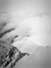 Aiguille du Midi (beierlin) Tags: mountain mountains climbing alpes alpine montblanc aiguilledumidi adventure blackandwhite blacknwhite