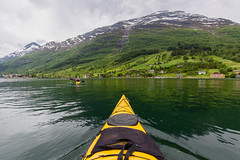 Nordfjord (Marc McDermott) Tags: norway nordfjord olden stryn sognogfjordane nordfjorden fjord kayak person calm beautiful lush