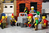The meeting... (Devid VII) Tags: devid vii detail lego moc military crew post apoc war happiness minifig minifigs minifigures diorama details weapon weapons happy smile scene second meeting