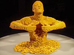 Yellow by Lego artist Nathan Sawaya (mharrsch) Tags: yellow human lego sculpture art nathansawaya artofthebrick exhibit omsi oregonmuseumscienceandindustry oregon mharrsch