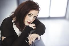 Nadège (kakobrutus) Tags: woman girl portrait gothic capucins brest naturallight eyes