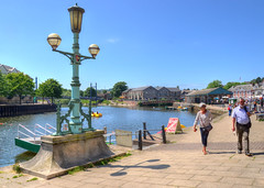 The riverside at Exeter (Baz Richardson (trying to catch up)) Tags: devon exeter riverexe riverside towpaths citycentres