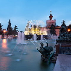 The Peoples Friendship Fountain at VDNKh in evening twilight  http://onetorussia.com/en/tours/issledovanie-prostranstva-i-vremeni.html (One to Russia) Tags: onetorussia russia tour tours tourist look фонтан travel traveling travelgram travellife travelrussia traveltorussia showmerussia inrussia msk welcometorussia citybestpics awesomerussia lovelyrussia instagramrussia adventure rusplaces moscowdays вднх италия venice roma florence