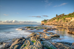 In the middle of a dream (JustAddVignette) Tags: landscape australia clouds cloudy deewhy fisherman headland landscapes longexposure newsouthwales northernbeaches ocean reflections rocks seascape seawater sky sun sydney water