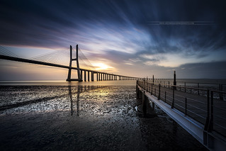 Vasco de Gama Bridge Lisbon Portugal