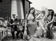 Mermaid Parade 2017 (Roy Savoy) Tags: bw blackandwhite street streetphotography people roysavoy nyc newyorkcity newyork blacknwhite streets streettog streetogs ricoh gr2 candid flickr explore candids city photography streetphotographer 28mm nycstreetphotography gothamist tog mono monochrome flickriver snap digital monochromatic blancoynegro