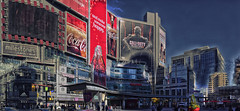 Dundas Square - Toronto (Paul B0udreau) Tags: architecture building city cityarchitecture d5100 layer master nikon nikond5100 panorama paulboudreauphotography road samsung samsungmaster canada ontario skyline tonemapping toronto winter buildings nikkor50mm18 tas hugin