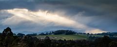 Ray of light Winter evening West Gippsland (laurie.g.w) Tags: ray light winter evening westgippsland victoria rural farming landscape sky cloud storm sunset eosm australia warragul