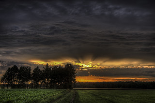 Natural Impression, Sunset in Germany