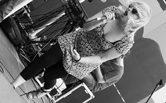 Canal Festival 2017 021 (byronv2) Tags: edinburgh edimbourg scotland candid peoplewatching street fountainbridge tollcross canal canalfestival canalfestival2017 raftrace unioncanal summer sunny sunshine band music musician goodvibes woman girl blonde singer singing blackandwhite blackwhite bw monochrome pretty sexy cleavage downblouse bra