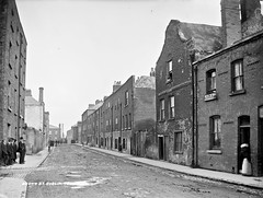 Slums, Dublin City, Co. Dublin (National Library of Ireland on The Commons) Tags: robertfrench williamlawrence lawrencecollection lawrencephotographicstudio thelawrencephotographcollection glassnegative nationallibraryofireland brownstreetsouth dublin leinster tenements slums dutchbilly brownstreet coombe liberties houseofillfame brickfieldlane chimney femalepenitentasylum dulfourscourt