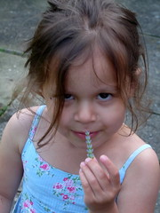 Robyn with Lavender (Peter Ashton aka peamasher) Tags: robyn grandchild granddaughter child