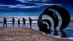 Silhouettes (Explored 12-07-2017) (Fermat 48) Tags: marysshell stephenbroadbent silhouette children sea sand incomingtide cleveleys lancashire blackpool uk canon eos 7dmarkii