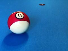 11 ball (brown_theo) Tags: mug bar gahanna ohio 11 ball stripe pool table dot spot blue billiards billiard