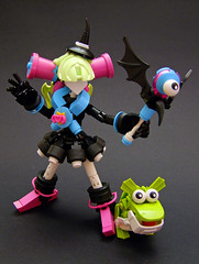 Pretty Mischief Witch Yumi (Djokson) Tags: witch magical girl cute spooky frog monster familiar pink azure pastel black lego bionicle moc model toy