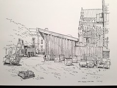 Stone masons yard, York Minster