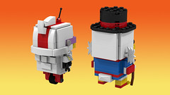 Scrooge and Gizmoduck back (Oky - Space Ranger) Tags: lego brickheadz disney afternoon cartoon toon darkwing duck tales uncle scrooge mcduck gizmoduck