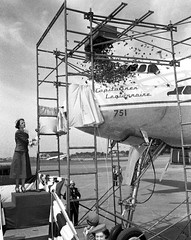 Chicago Midway Airport - Capital Airlines - New Ship Christening (twa1049g) Tags: chicago midway airport capital airlines lockheed constellation 1950 n67952