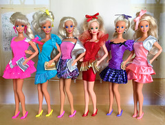Barbie Easter Party, Happy Birthday Barbie 1995, Winter Princess Barbie, Happy Holidays 1993, Steppin Out, Garden Party Barbie dolls (alenamorimo) Tags: barbie barbiedoll doll dolls