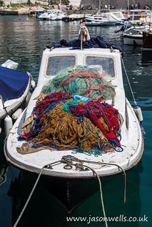 Lone fishing boat