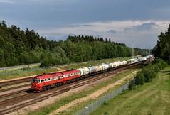 Vaidotai (LT), thunderstorm coming up (Ahrend01) Tags: 2m62 vaidotai lg lithunia railways lietuva vilnius