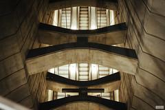Empty Escalator (The Hobbit Hole) Tags: urban nikon d700 austria underground concrete vienna subway ubahn 2470mmf28g sunset