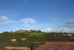 2319 Mona Mine yard ruins under a blue sky (Andy - Busyyyyyyyyy) Tags: bbb blue coppermine mmm moon mynyddparys ooo opencastmine parysmountain ppp shootaboot sky sss