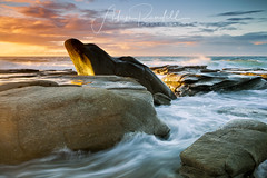 Dolphin Head Rock (Adam Randell) Tags: sky sand sunrise sunshinecoast pointcartwright water waves seascape sea singhray canon clouds colours adamrandell adamrandelllandscapephotography dolphinheadrock rocks longexposure