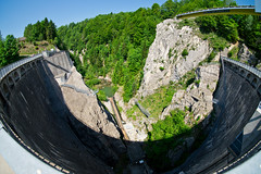 the whole dam thing (sabrandt) Tags: fribourg switzerland suisse schweiz lacdemontsalvens dam hydroelectric jogne jaun broc charmey lake europe 8mm rokinon8mm fisheye