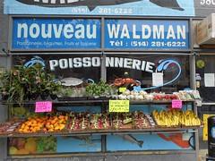 Waldman's (navejo) Tags: montreal quebec canada waldmans plateau store shop veg fruit fish