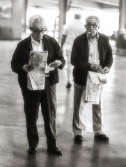 Gambling Twins At The Track (vodophoto's images) Tags: men old twins track race