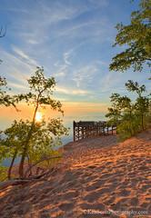 Lake Michigan ... where sunsets, set (Ken Scott) Tags: backpage sunset viewingplatform bluesky leelanau michigan usa 2017 june spring 45thparallel hdr kenscott kenscottphotography kenscottphotographycom freshwater greatlakes lakemichigan sbdnl sleepingbeardunenationallakeshore voted mostbeautifulplaceinamerica lakemichiganoverlook 9 alongthepiercestockingscenicdrive
