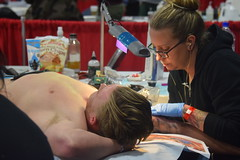 SLC Tattoo Convention (Tobyotter) Tags: slctattooconvention slc utah 2017 inked tattoos blond chest armpits pits guy man